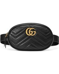 519b485fb02f Lyst - Gucci Gg Marmont 2.0 Matelasse Triple Pouch Leather Belt Bag