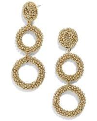 BaubleBar - Capella Beaded Triple Hoop Drop Earrings - Lyst