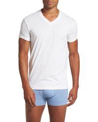 2xist - Pima Cotton Slim Fit V-neck T-shirt - Lyst