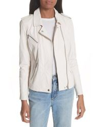 Rebecca Taylor - Washed Leather Moto Jacket - Lyst