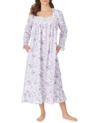 Eileen West Ballet Long Sleeve Nightgown - White