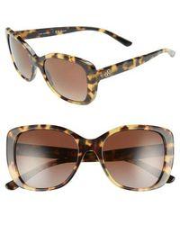 Tory Burch - 53mm Polarized Rectangle Sunglasses - - Lyst