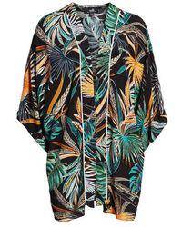 Wallis Sahara Palm Print Jacket - Black