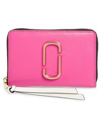Marc Jacobs - Small Snapshot Leather Zip-around Wallet - Lyst
