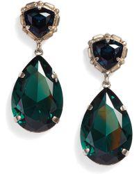 Sorrelli - Pear Crystal Statement Earrings - Lyst