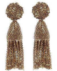 Oscar de la Renta   'classic Short' Tassel Chain Drop Earrings   Lyst
