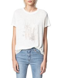 Zadig & Voltaire - Azedi Embellished T - Shirt - Lyst