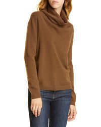 Nordstrom Cowl Neck Cashmere Sweater - Brown