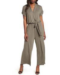 Bobeau - Knit Surplus Jumpsuit - Lyst