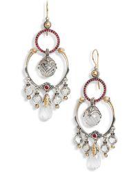 Konstantino Pythia Crystal Chandelier Earrings - Metallic