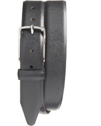 Nordstrom - Evans Saffiano Leather Belt - Lyst