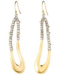 Alexis Bittar - Freeform Crystal Encrusted Drop Earrings - Lyst