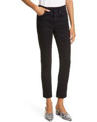 La Vie Rebecca Taylor Ines Slim Fit Ankle Jeans - Black