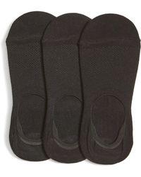 Nordstrom - 3-pack Liner Socks, Black - Lyst