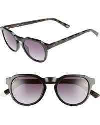 Web - 50mm Sunglasses - Shiny Black/ Blue - Lyst
