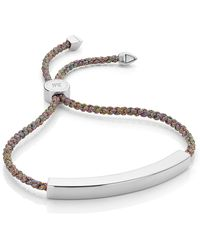 Monica Vinader - Engravable Large Linear Friendship Bracelet - Lyst