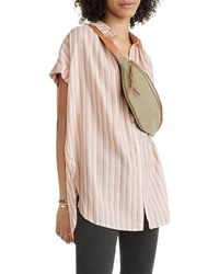 Madewell - Central Tunic Shirt In Ackroyd Stripe - Lyst