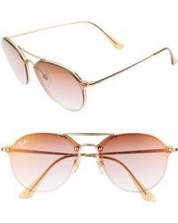 0b667d06e04 Lyst - Ray-Ban Evolve 58mm Polarized Aviator Sunglasses - for Men