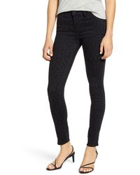Articles of Society Sarah Dark Leopard Skinny Jeans - Multicolor