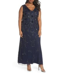 Pisarro Nights - Rosette Embellished Mesh Gown - Lyst