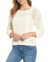 Velvet By Graham & Spencer - Popcorn Cable Sweater - Lyst