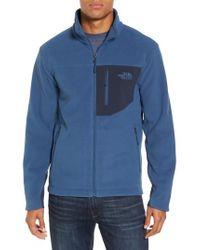 The North Face 'chimborazo' Zip Front Fleece Jacket - Blue