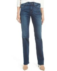 NYDJ - Marilyn Stretch Straight Leg Jeans - Lyst