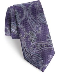 Nordstrom Paisley Silk Tie - Purple