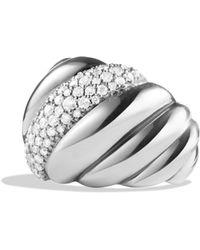 David Yurman - 'hampton Cable' Ring With Diamonds - Lyst