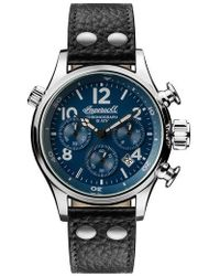 INGERSOLL WATCHES | Ingersoll Chronograph Leather Strap Watch | Lyst