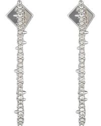 Alexis Bittar Abstract Thorn Earrings - Metallic