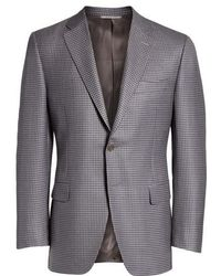 Canali | Classic Fit Houndstooth Wool Sport Coat | Lyst