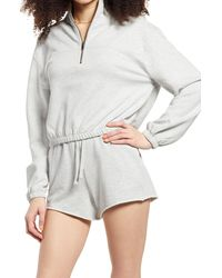 BP. Women's Half-zip Fleece Pullover - Grey