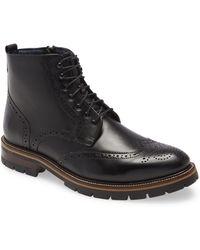 Johnston & Murphy Xc Flex Cody Wingtip Boot - Black