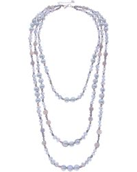 Nakamol - Crochet Pearl & Stone Beaded Multistrand Necklace - Lyst