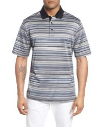 Bugatchi - Stripe Mercerized Cotton Polo - Lyst