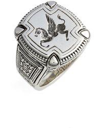 Konstantino Silver Classics Pegasus Ring - Metallic