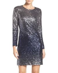 Maia - Ombre Sequin Sheath Dress - Lyst