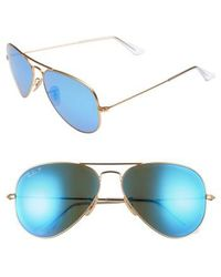 Ray-Ban - 58mm Polarized Aviator Sunglasses - Lyst