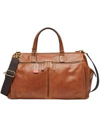 Fossil - Defender Leather Duffel Bag - - Lyst