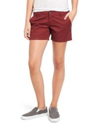 Volcom - 'frochickie' Cotton Shorts - Lyst