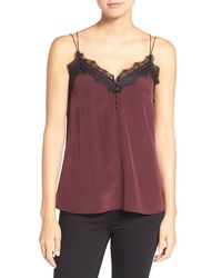 Chelsea28 Nordstrom - Lace Trim Silk Camisole - Lyst