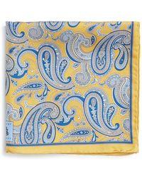 Robert Talbott - Paisley Silk Pocket Square - Lyst