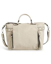 Phase 3 - Belted Faux Leather Satchel - Lyst