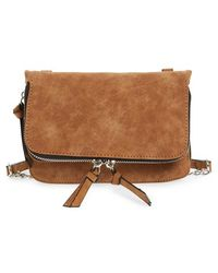 Phase 3 - Zip Faux Leather Crossbody - Lyst