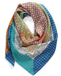 Echo - Harbour Foulard Square Silk Scarf - Lyst