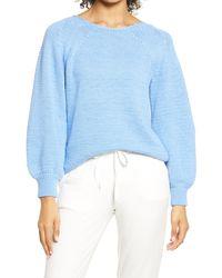 Lou & Grey Shaye Balloon Sleeve Sweater - Blue