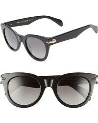 b2dcd076de81 Rag   Bone - Core 50mm Polarized Cat Eye Sunglasses - - Lyst
