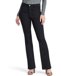 Sam Edelman The Stiletto High Waist Raw Hem Bootcut Jeans - Blue