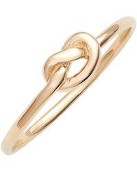 Ariel Gordon Love Knot Ring - Metallic